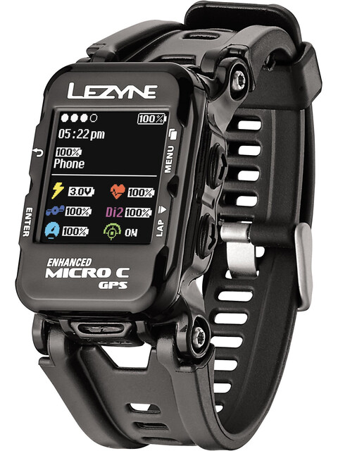 Lezyne Micro C Multisportuhr schwarz